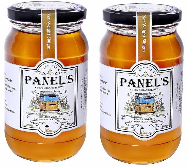 PANEL'S Organic Honey pure and Natural healthy|no added sugar syrup,its totally pure & adulteration|hence it help to strength your immunity & weight loss(1KG Sahad with Dipper free)