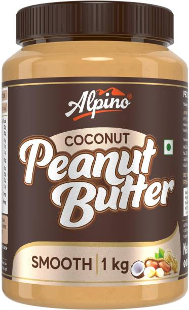 ALPINO Coconut Peanut Butter Smooth 1 KG | India�s 1st Coconut Peanut Butter | Made with Roasted Peanuts & Goodness of Coconut | 22% Protein | Non GMO | Gluten Free | Vegan | 1 kg
