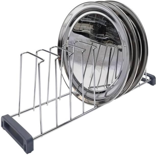 SMART SLIDE Stainless Steel 20 Inch Multipurpose Kitchen Plate Rack / Plate Holder / Thali Rack / Dish Rack / Plate Stand / Chopping Board Holder / Dish Drainer for Kitchen (Big) Plate Kitchen Rack