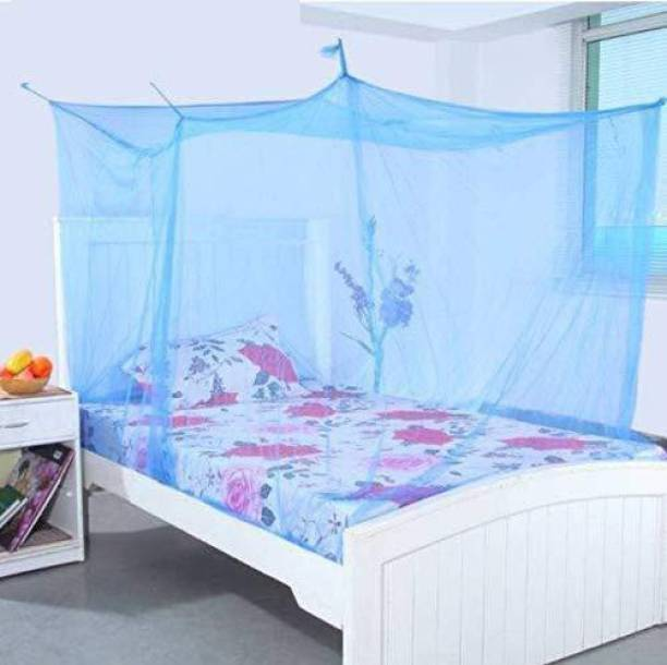 AP KARUR Nylon Adults Double Bed Size Avoid Annoying Insect Mosquito Net Pest Control Comfortable for Family, 100% AIR Flow (King or Queen Size) Mosquito Net Mosquito Net
