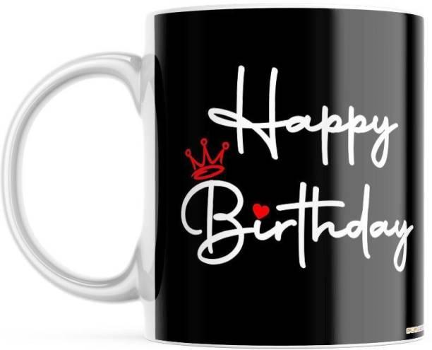 purezento Happy Birthday mug gift on birthday for boyfriend/girlfriend/friend/sister/brother/wife/husband Ceramic Coffee Mug
