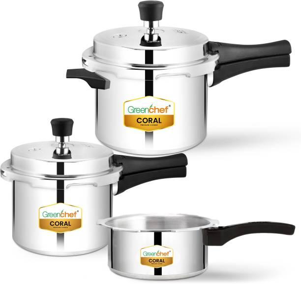 Greenchef Coral pressure cooker Combo 5 L, 3 L, 2 L Pressure Cooker