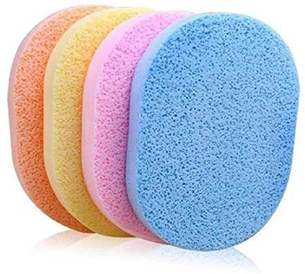 play run Soft Facial Cleansing Sponge Face Makeup Wash Pad Cleaning Sponge Puff Exfoliator Scrub