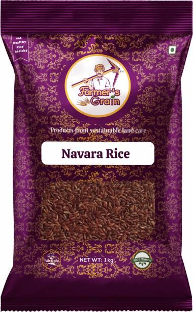 Farmers Grain Traditional Navara Rice (1 kg) Red Navara Rice (Medium Grain, Parboiled)