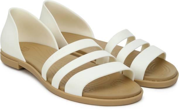 CROCS Women Off White Flats