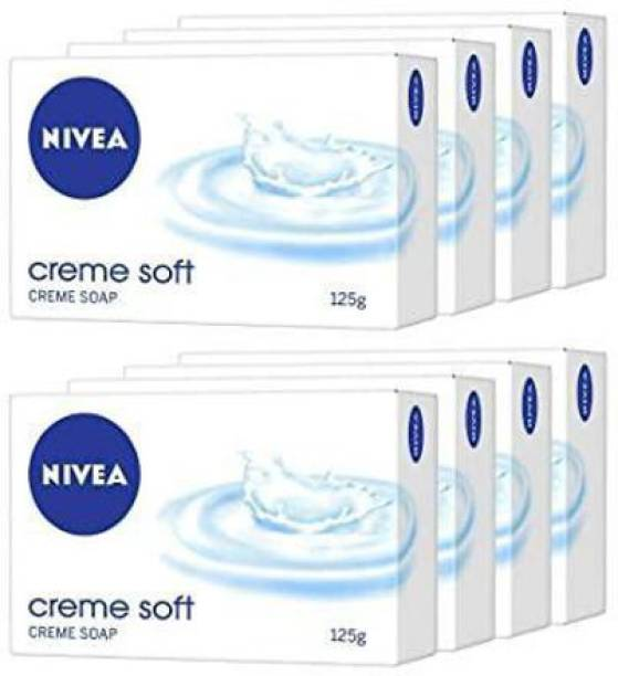 NIVEA Creme Soft Soap, 125 gm Pack of 4 x2