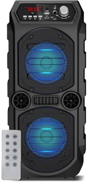 iGear Dynamo 10 watts Bluetooth Party Speaker with TIF/FM Radio/AUX/USB/MIc Support/TWS Function/LED Lights and Remote (Black) 10 W Bluetooth Speaker