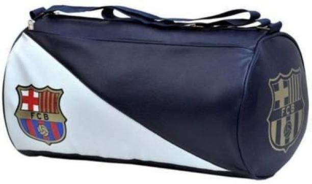 DSPKA SOFTDuffle PU LeatherGym and SportsBlue and White Bag for boys and GirlsWaterproof