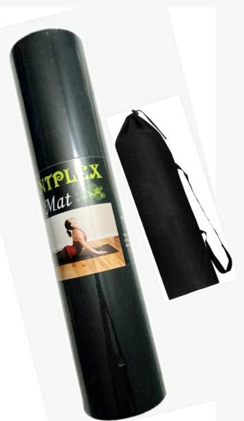 POINTPLEX 100% EVA FOR UNISEX WITH FREE YOGA BAG Black 6 MM mm Yoga Mat
