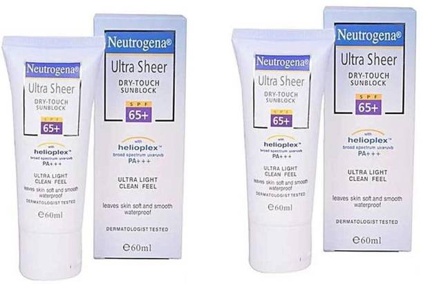 NEUTROGENA Ultra Sheer Dry-Touch Sunscreen - SPF 65+ 60ml- US Product - SPF 65 PA+++
