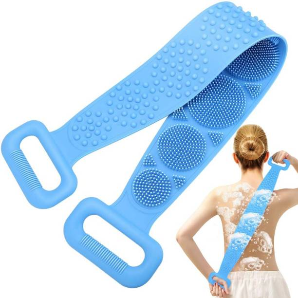 Fluent 01 Silicone Back Scrubber for Shower, Exfoliating Long Bath Body Brush with Soft Bristles Bath Brush for Men and Women