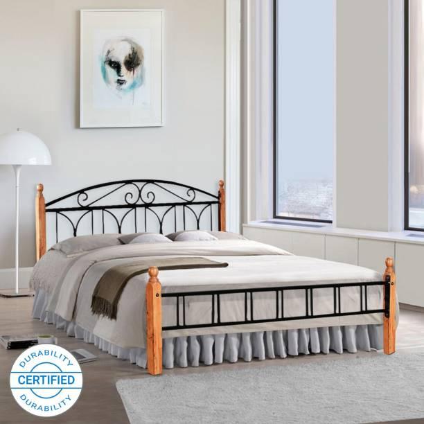 FurnitureKraft Georgia Metal Queen Bed