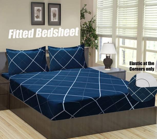 Flipkart SmartBuy 140 TC Microfiber Double Geometric Bedsheet