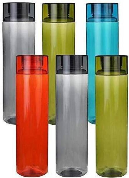 Dreamshop Water Bottle For Fridge Gym School Office Set Of 6 1000 ml Bottle