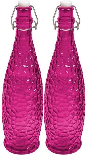 PIKSA Crick Glass Water Bottle For Fridge Glass Water Bottle for Kitchen 1 LTR 1050 ml Bottle