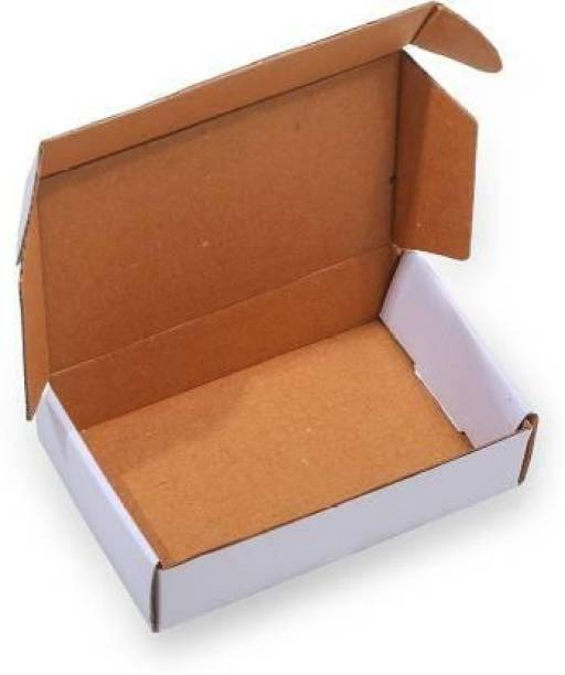 zyrah Self-Locking Box Cardboard 6x4x1.5 Inches 50 White Boxes For Gift Item Packing Packaging Box