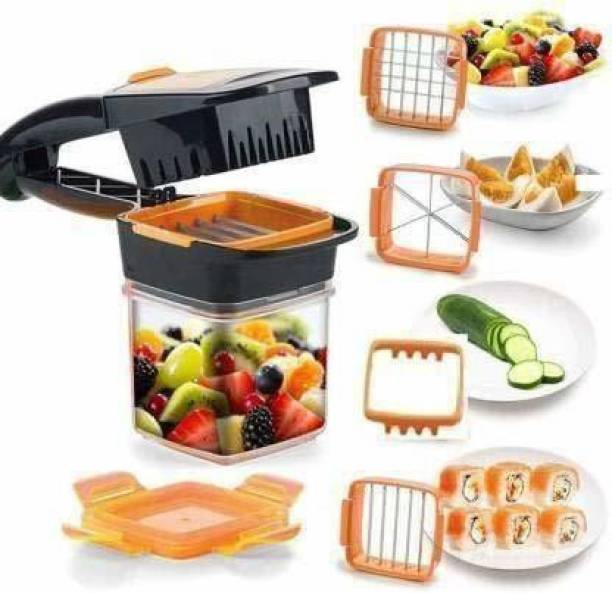 PRODEALS Vegetable Dicer Chopper 5 in 1 Multi-Function Slicer Vegetable & Fruits Cutter, Dicer Grater & Chopper, Peeler with Container Onion Cutter Kitchen Accessories Vegetable & Fruit Chopper