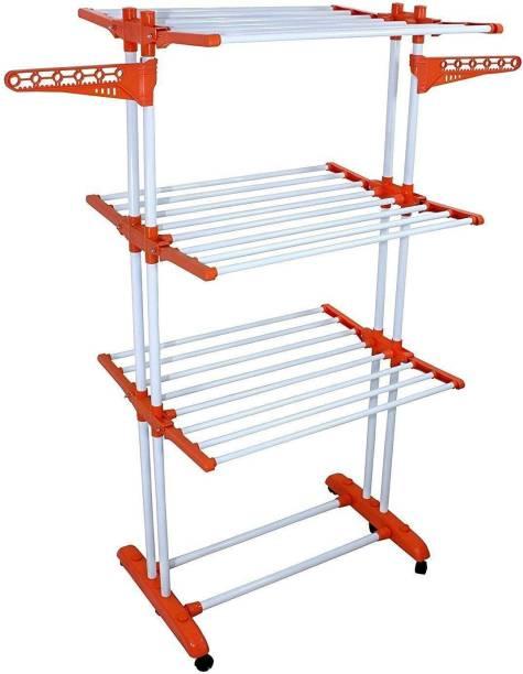 Branco Steel, Plastic Floor Cloth Dryer Stand Heavy Cloth Dryer Stand - Prince Jumbo-BRC-786