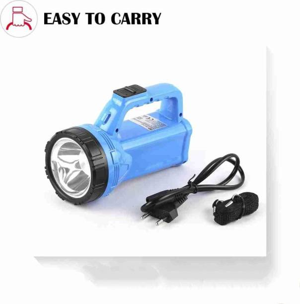 awza PORTABLE RECHARGEABLE LED SEARCH EMERGENCY LIGHT Torch (3W+2.4W) Torch (Multicolor ) Torch Emergency Light