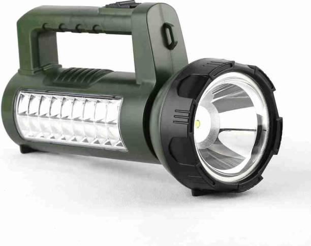 awza PORTABLE RECHARGEABLE LED ( LED:40W LED+18 SMD LEDs) DUAL FUNCTION SEARCH OR EMERGENCY LIGHT Torch Emergency Light