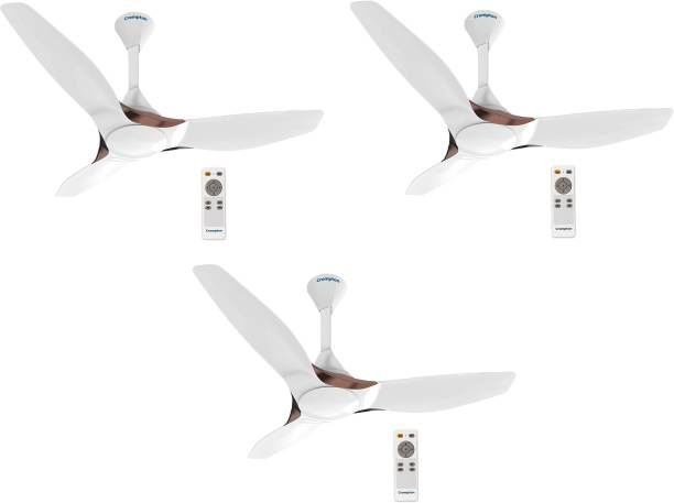 CROMPTON Silent Pro Enso MIST WHITE PACK OF 3 1225 mm 3 Blade Ceiling Fan