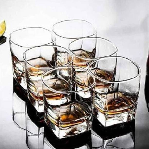 JISHAENTERPRISE (Pack of 6) (Pack of 6) Imperial Quality (Grade A) Whiskey Glass Set Glass Set (310 ml, Glass) Glass Set (310 ml, Glass) Glass Set