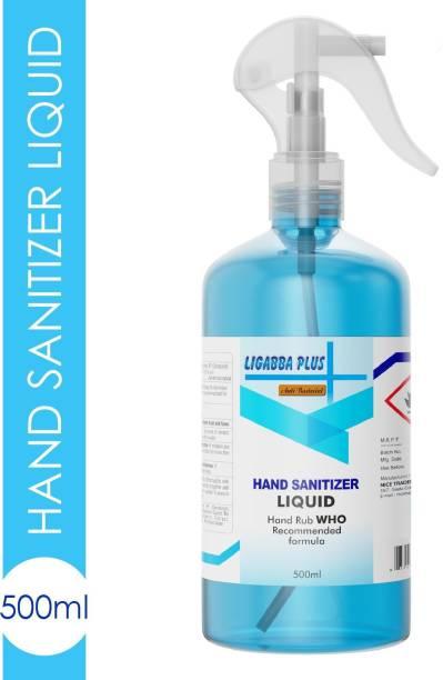 Ligabba  Liquid Spray (Pack of 1) Hand Sanitizer Bottle
