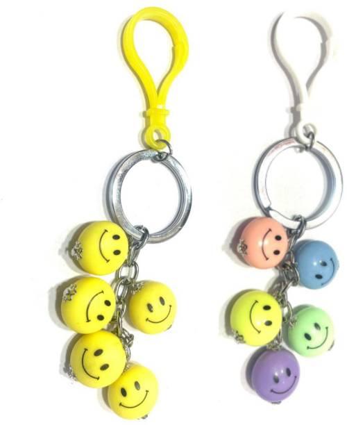 VS Club COMBO_SMILEY_KEYCHAIN_YELLOW_MULTICOLOUR Key Chain