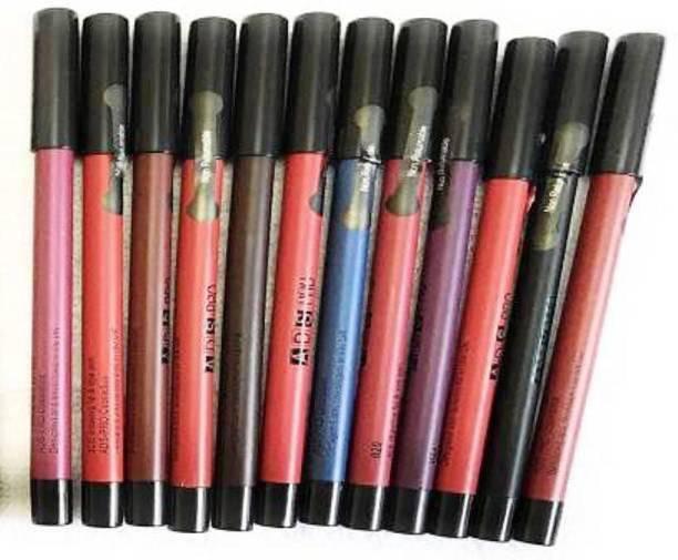 ads MATTE ME PENCIL Liner Lip SET - Pack of 12