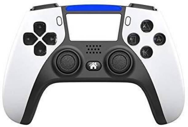 Tech Aura Wireless Controller for PS4 Playstation 4, professional usb PS4 Wireless Gamepad for PlayStation 4/PS4 Slim/PS4 Pro ( white ps5 look)  Joystick