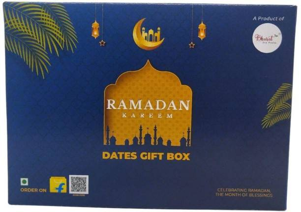 Bharat Ramadan Dates Gift Box | Perfect Ramadan Gift | Order directly for your friends and family. This Ramadan Make it special | 300 gm Kalmi and 300 gm Royal Crown Fard Dates in the box Dates