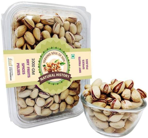 natural history Brand - Roasted & Salted Pista 1000 Gm (Pack Of 1 ) Pistachios
