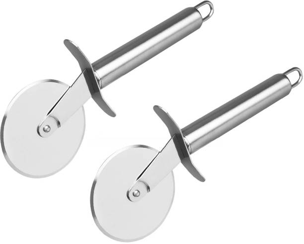 MACMILLAN AQUAFRESH Premium Stainless Steel Pizza Cutter Wheel Rolling Pizza Cutter ( Pack Of 2 ) Rolling Pizza Cutter