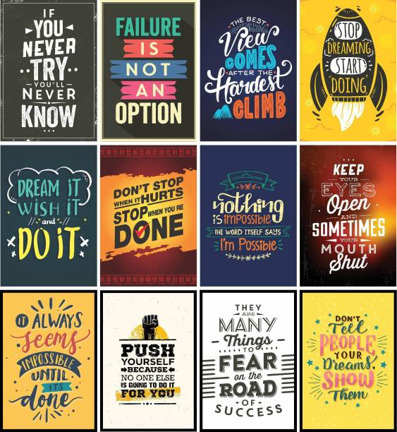 Motivational Combo of 6 HD Posters (250 GSM Paper, 12x18 Inch, Multicolour) Paper Print