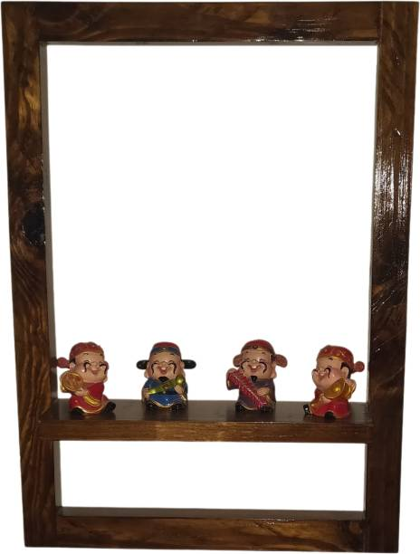 Vanvia Picture Frame Styled Wall Shelves Wooden Wall Shelf