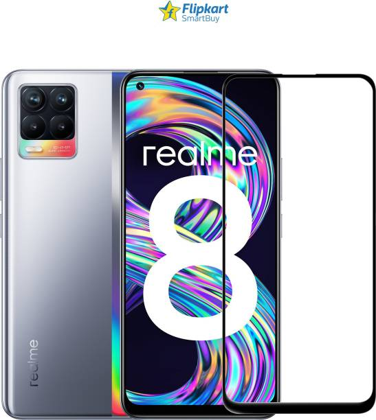 Flipkart SmartBuy Edge To Edge Tempered Glass for Realme 8, Realme 8 Pro