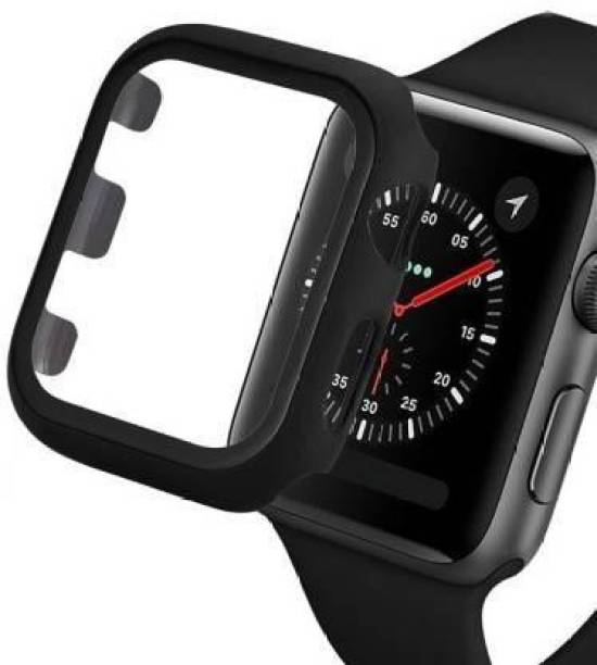 CallSmith Edge To Edge Tempered Glass for Apple Watch 38 mm Series 1 ,38mm Series 2 , 38mm Series 3, Matte Finish 360° Bumper Cover with Tempered Glass