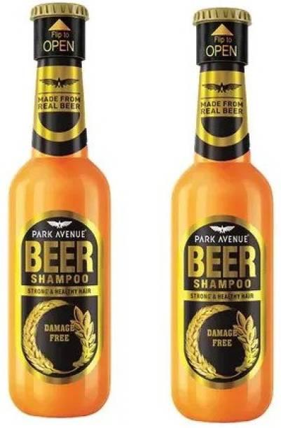 PARK AVENUE Damage Free Beer Shampoo for Men 350 Ml Pack Of 2