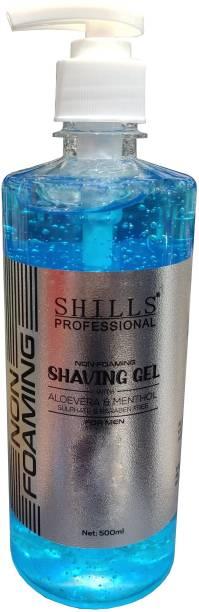 Shills Professional Non Foaming Shaving Gel 500ml