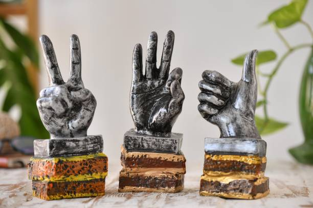 Flipkart SmartBuy set of 3 hands of Victory Signs Palm polyresin Showpiece for Home Decor|Decorative Items for Room|Handicraft|Home Decoration Items|Table Decoration Items Decorative Showpiece  -  23 cm