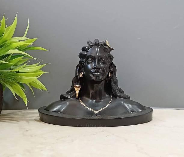 Collectible India Adiyogi Shiva Statue For Car Decorative Showpiece  -  15 cm
