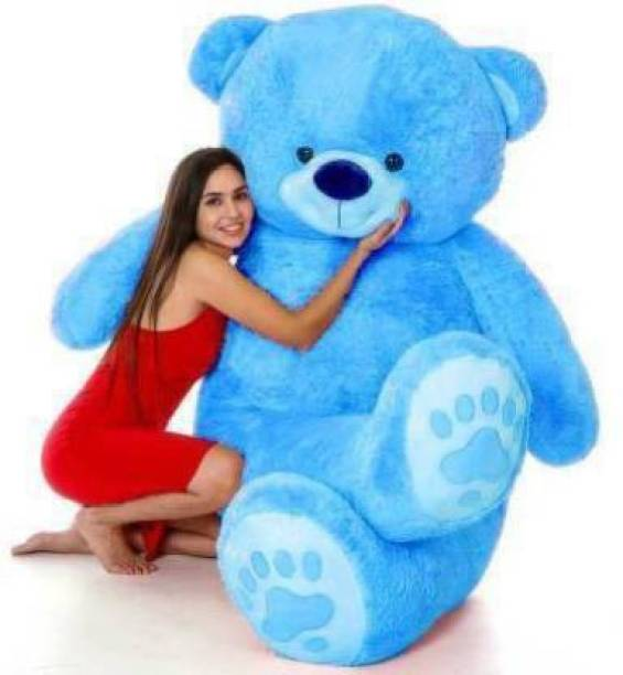 stuffed toy 3 Feet Cute Blue Fur & Heart Teddy Bear  - 92 cm