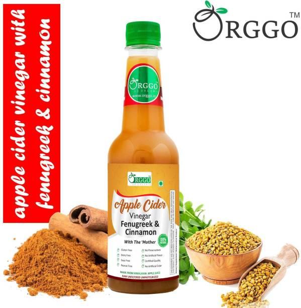 ORGGO Apple Cider Vinegar Fenugreek and Cinnamon Vinegar