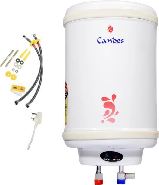 Candes 6 L Storage Water Geyser (Metal, White)