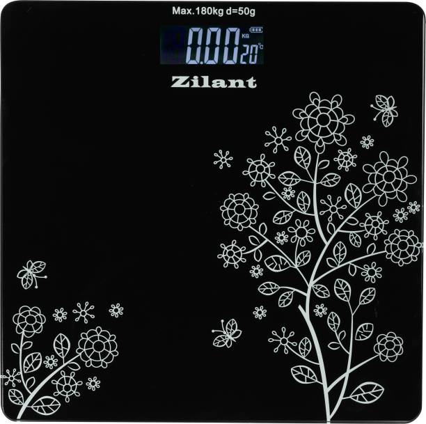 Zilant 6 mm Automatic Personal Digital Weight Machine With Large LCD Display and 4 Sensor Technology For Accurate Weight Measurement Weighing Scale