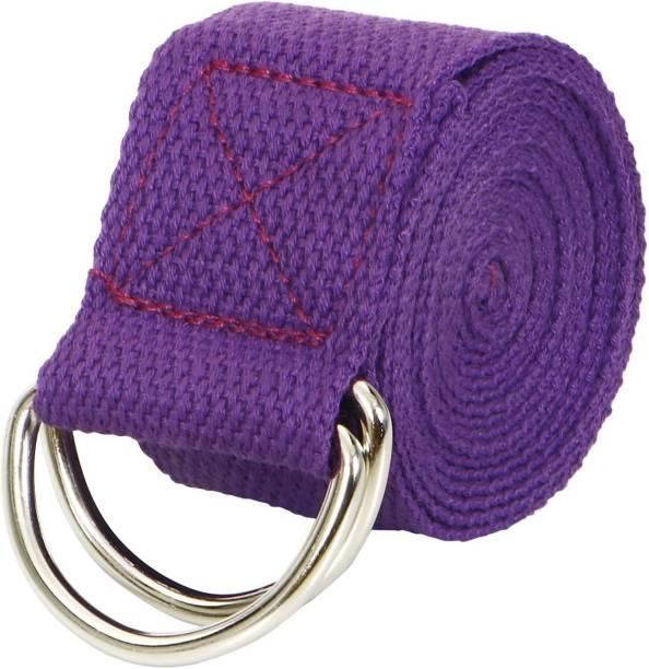 FITSY Cotton Adjustable Long Yoga Belt 6 Feet (AR3616) Cotton Yoga Strap