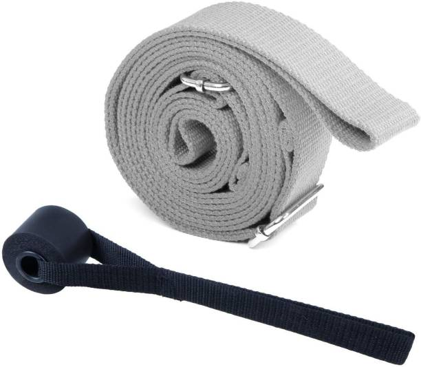 FITSY Stretcher Band 9.8 Feet Length with Buckle & Door Anchor Cotton Yoga Strap