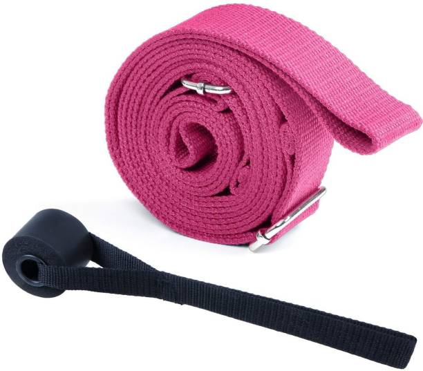 FITSY Leg Stretcher Band 9.8 Feet Length with Buckle (AR3615-PNK) Cotton Yoga Strap
