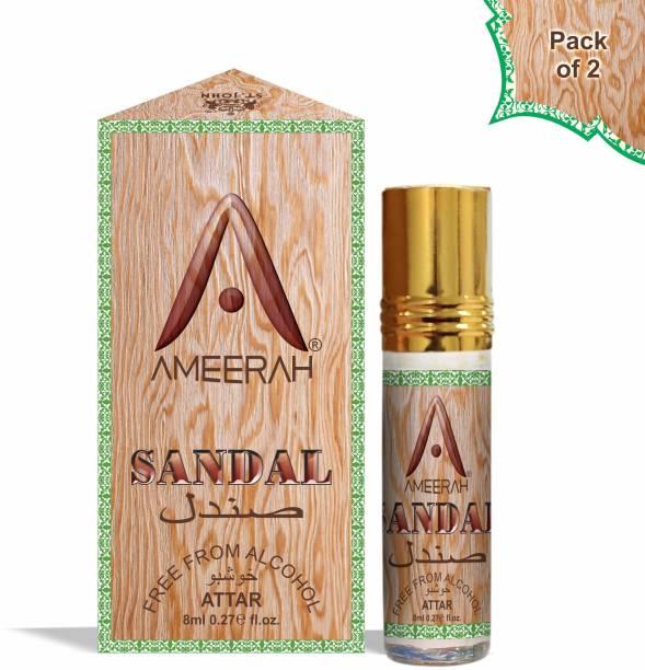 ST-JOHN Sandal Attar 8ml Pack Of 2 - Floral Attar