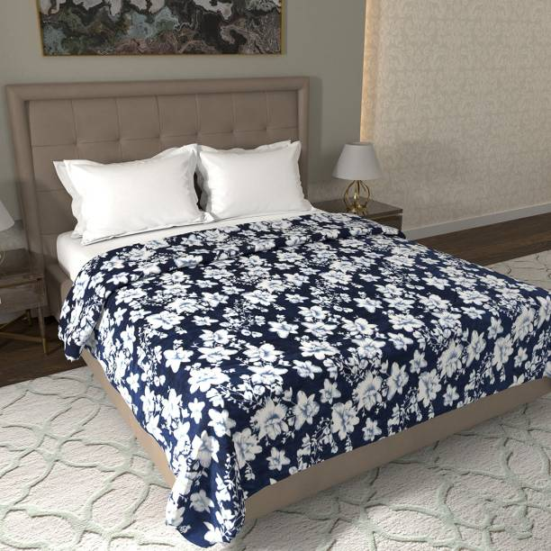 Flipkart Perfect Homes Floral Double Coral Blanket